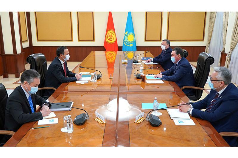 Kazakh PM receives Kyrgyzstan FM