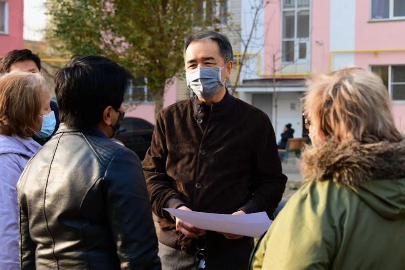 Аким Алматы держит на контроле ситуацию в микрорайоне «Зердели»
