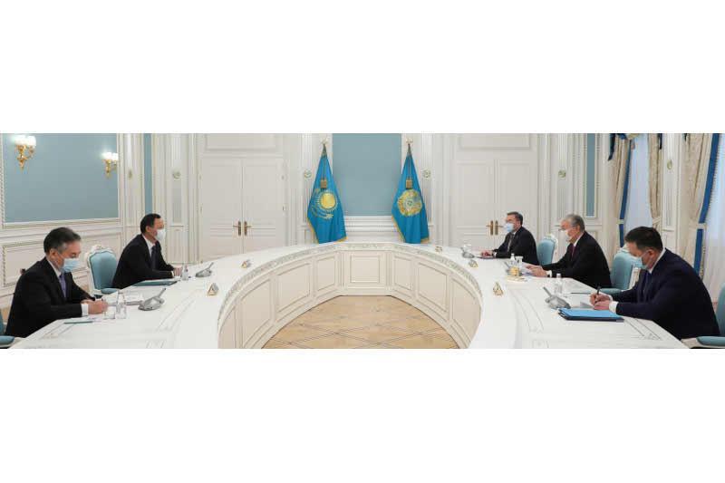 托卡耶夫总统会见吉尔吉斯斯坦外长