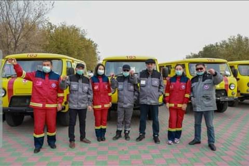 Атырау облысында 5 ауданға жаңа жедел жәрдем көліктері берілді