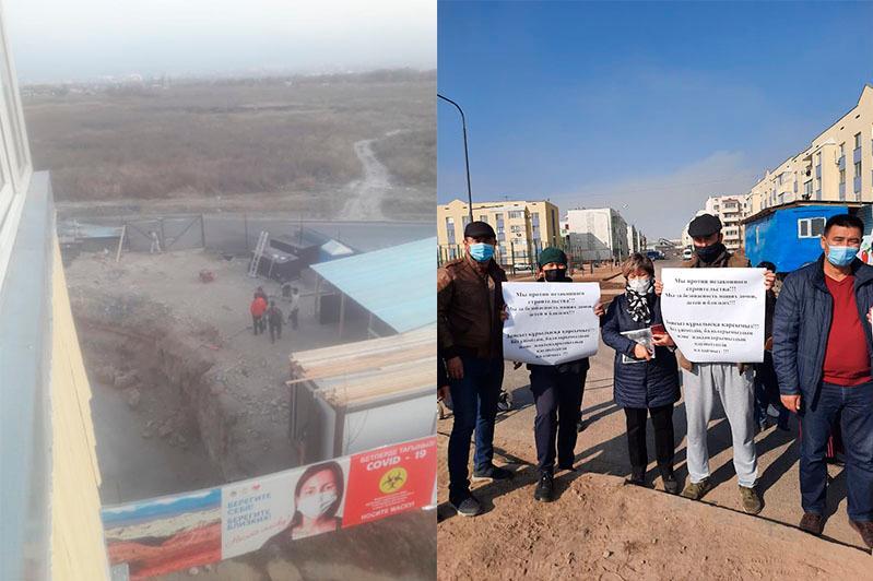 Жители микрорайона Зердели в Алматы пожаловались на уплотняющую застройку
