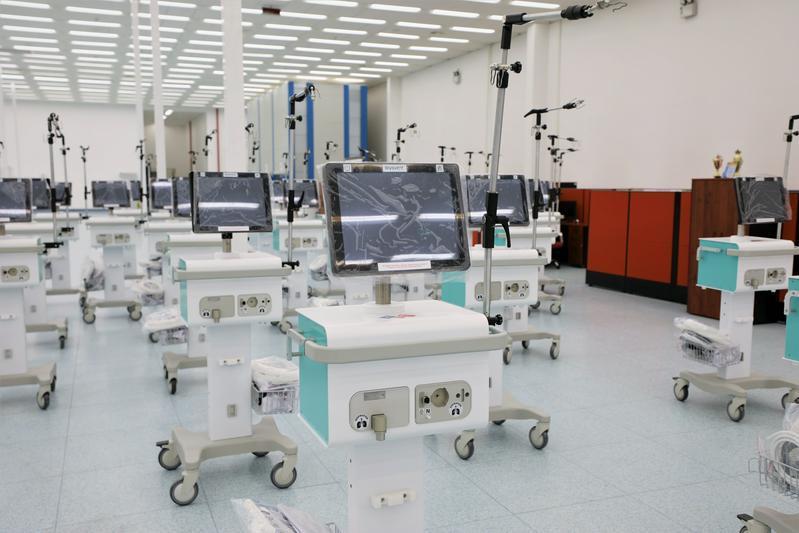 奇姆肯特市医疗设备生产企业开始生产呼吸机