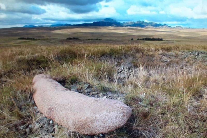 Stone stele dated back to VIII-VII cc. B.C. found in Kazakhstan