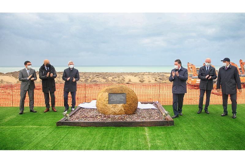 Аскар Мамин дал старт реализации второго этапа развития курортной зоны Актау