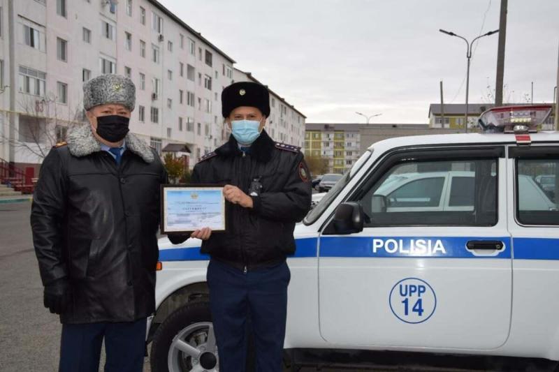 Атырауда үздік учаскелік полиция бекетіне қызметтік көлік берілді