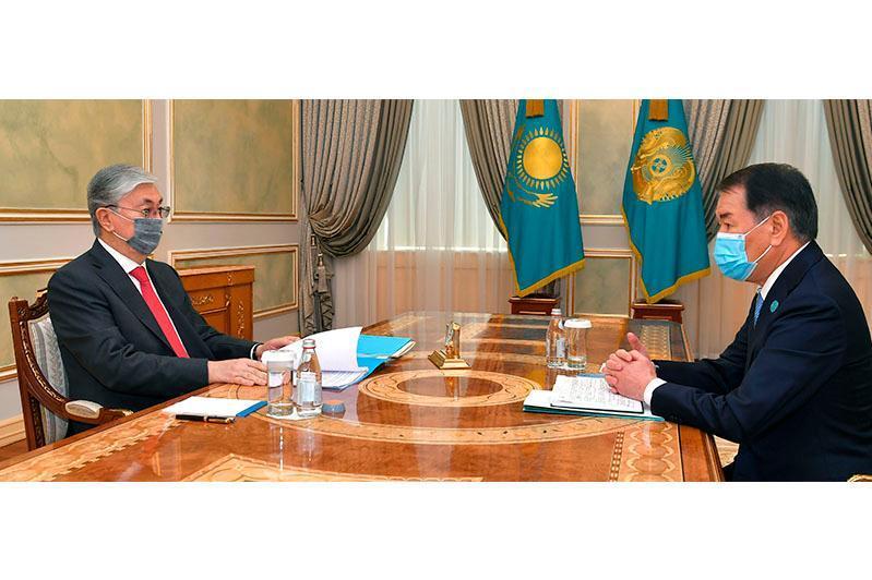 ҚР Президенти Конституциявий кенгаш раисини қабул қилди