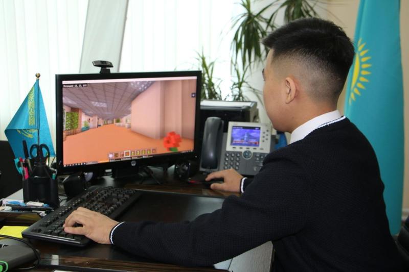 Точную копию школы построили в Minecraft ученики НИШ Петропавловска