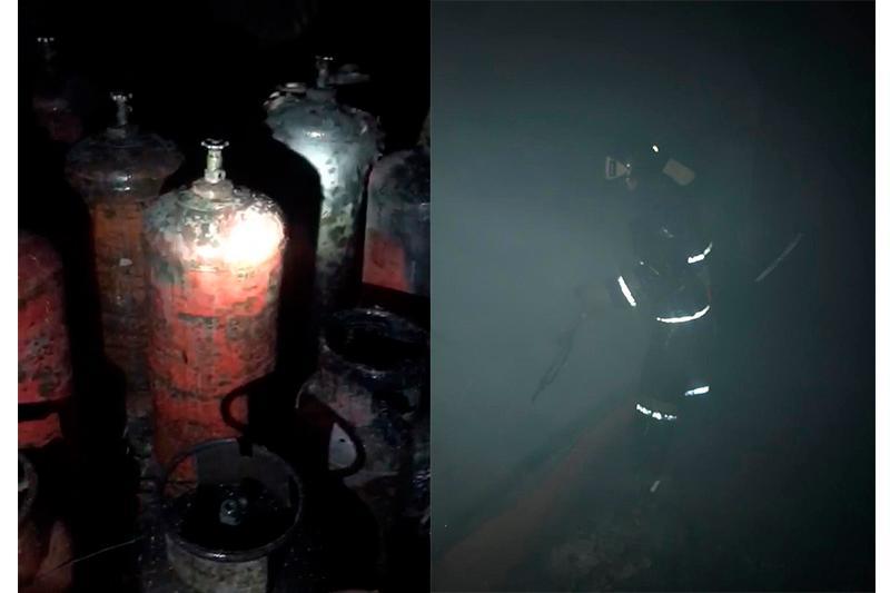 Пожарные предотвратили взрыв газбаллонов в центре Алматы