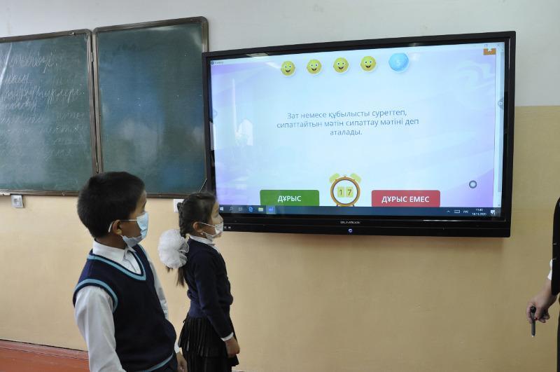 Современное оборудование на 13,4 млн тенге подарили сельской школе в Туркестанской области