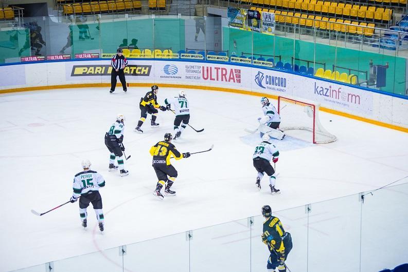 «Сарыарка» одержала пять побед подряд в Чемпионате Казахстана по хоккею