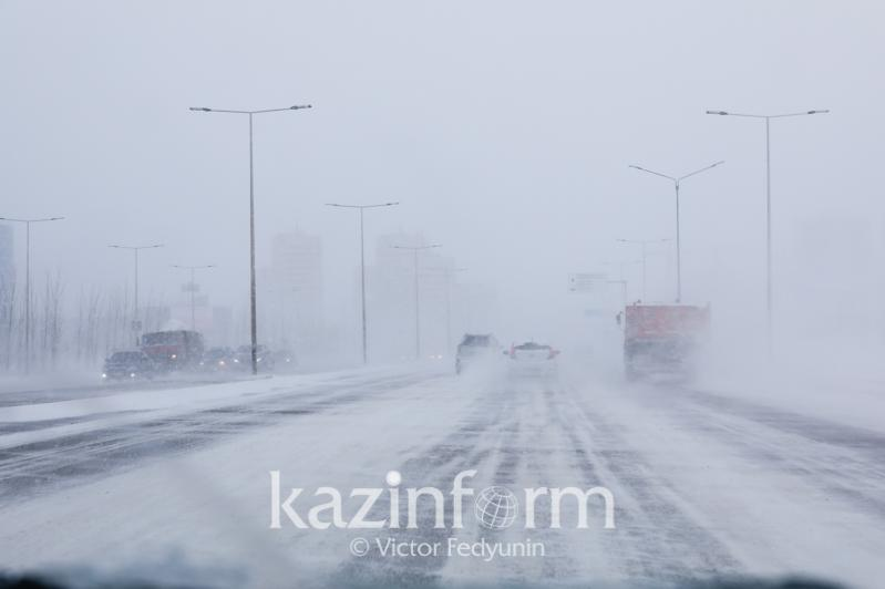 Wind, fog, and ice slick in store for 4 rgns of Kazakhstan