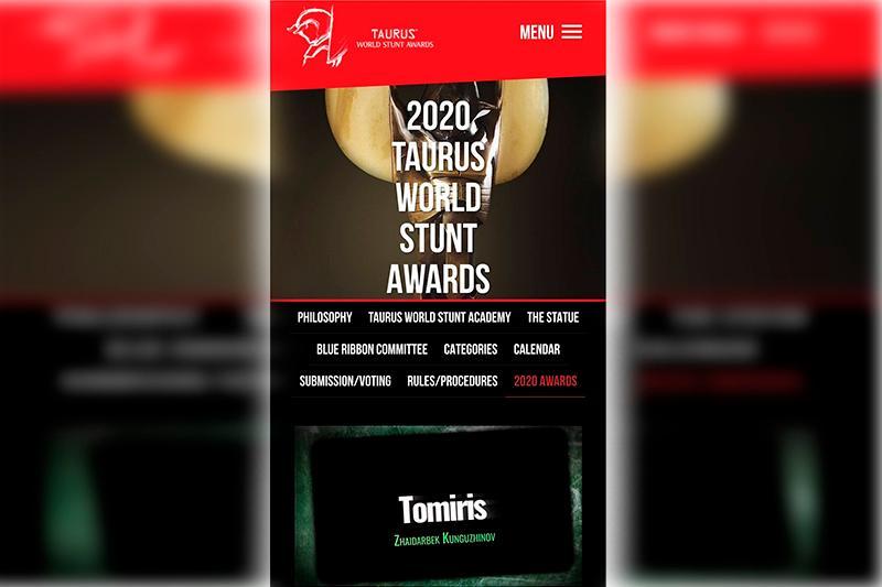 «Томирис» каскадерлардың «Оскарын» жеңіп алды