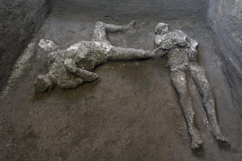 Pompeii archeologists discover remains of two victims in AD 79 eruption