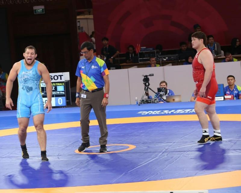 Олег Болтин стал чемпионом Казахстана по вольной борьбе