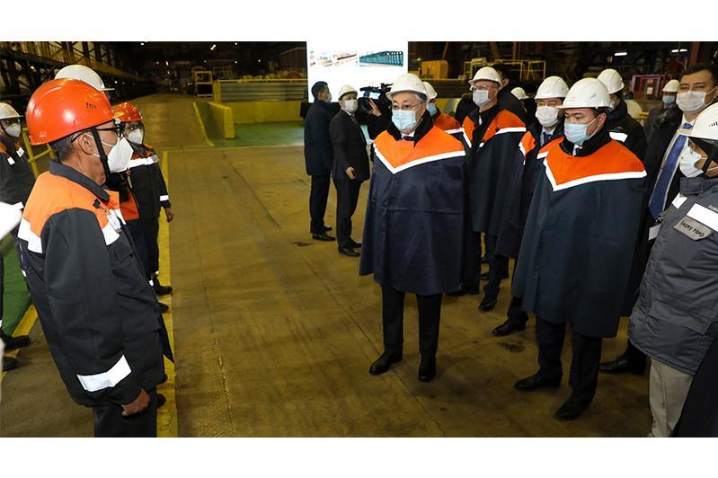 ҚР Президенті «АрселорМиттал Теміртау» АҚ металлургия комбинатында болды
