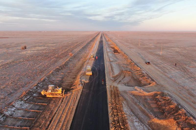 Увеличен объем дорожно-ремонтных работ в Акжаикском районе ЗКО