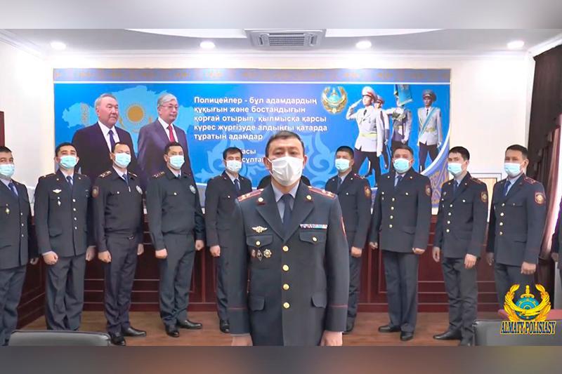 41 сотрудник с именем Нурсултан работает в полиции Алматы