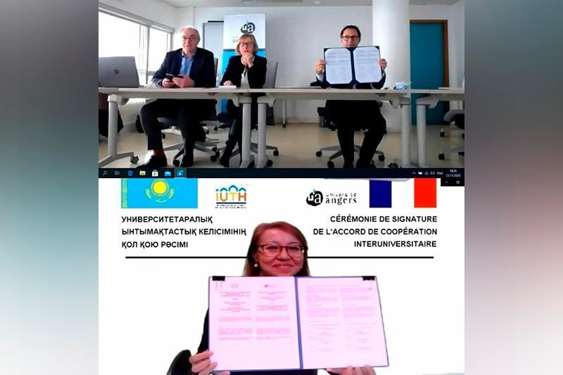 Подписано соглашение о сотрудничестве между университетами туризма Казахстана и Франции