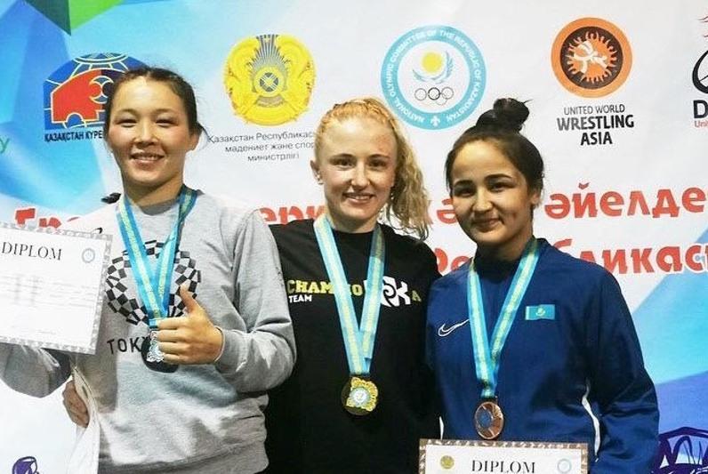 Nur-Sultan wrestlers sweep 3 gold at Women's Wrestling Championships