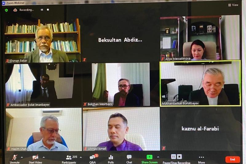 Книгу малазийского учёного об аль-Фараби обсудили на международной видеоконференции