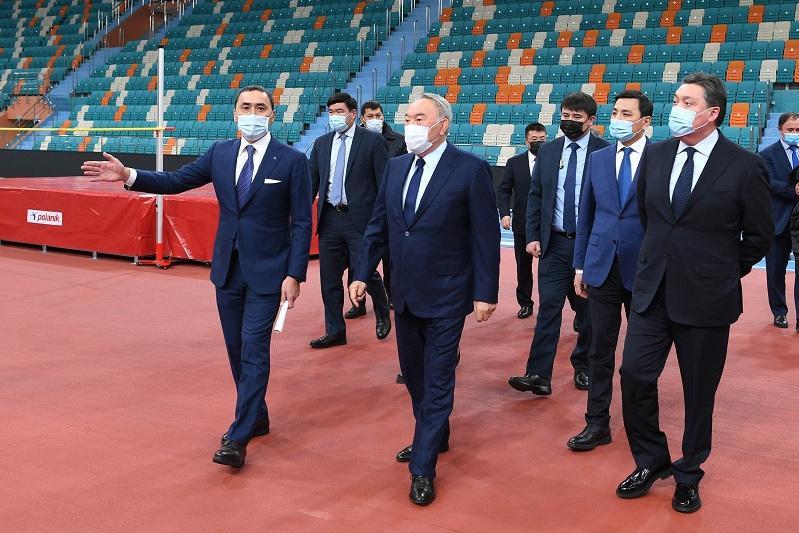 Первый Президент Казахстана посетил новый легкоатлетический спортивный комплекс