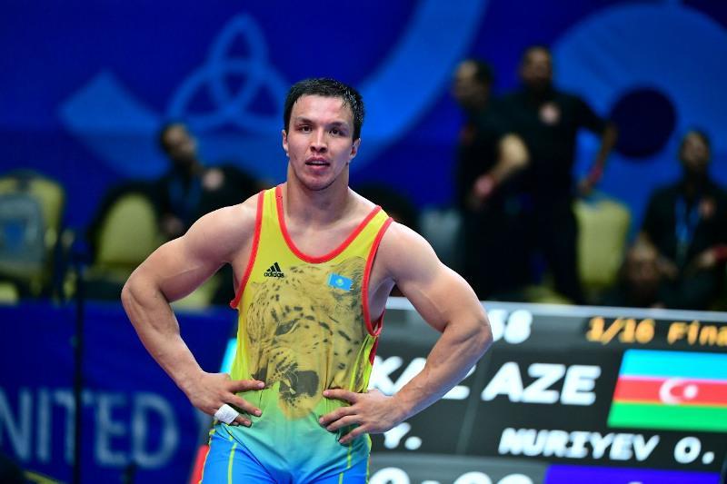 В третий раз стал чемпионом РК по греко-римской борьбе карагандинец Ерулан Искаков
