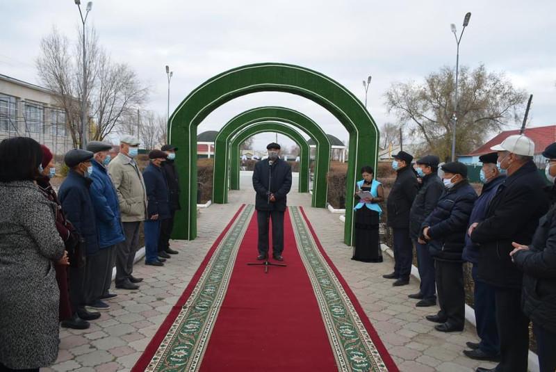 Парк ветеранов открыли в Таскалинском районе ЗКО
