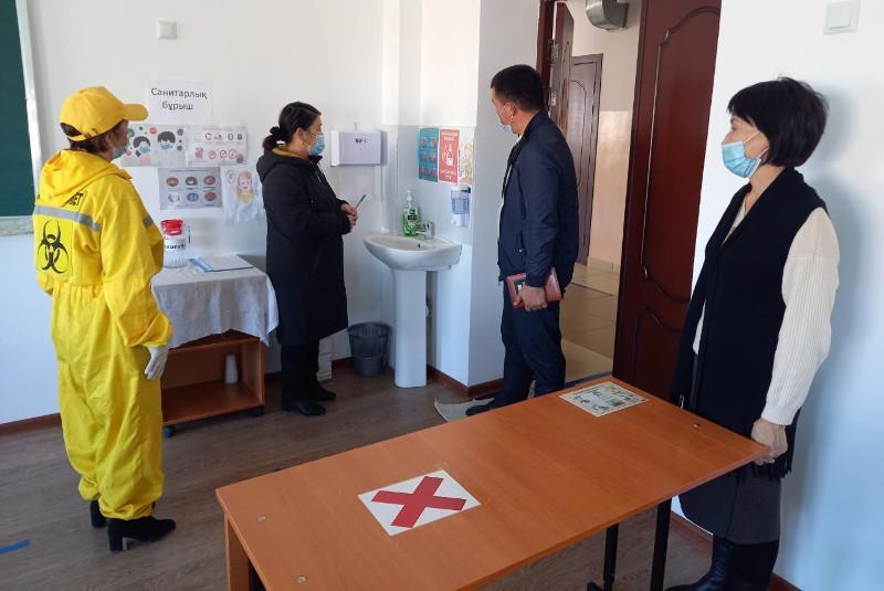 Учебу в школах разрешили для дежурных классов в Туркестанской области