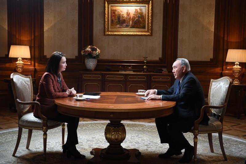 首任总统接受哈萨克斯坦国家电视台专访