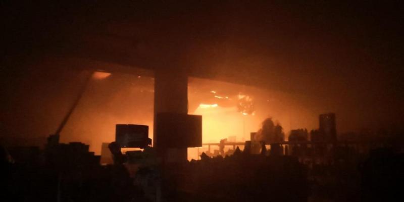 70 огнеборцев тушили крупный пожар в Таразе
