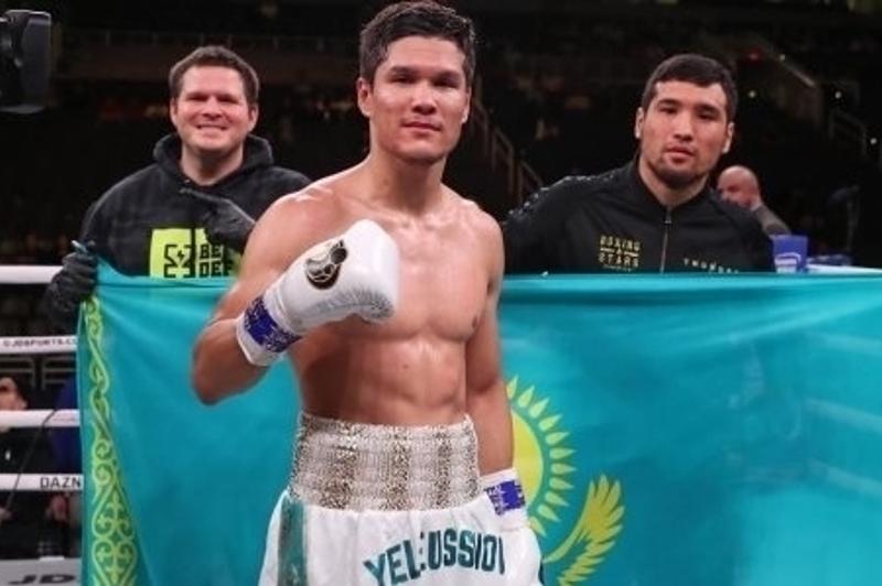 Данияр Елеусинов нокаутировал экс-чемпиона мира и завоевал первый титул в профи