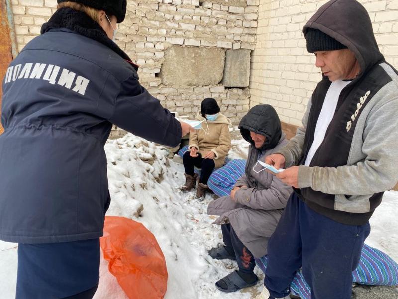 В Актобе 11 бездомных и бродяг доставили в Центр социальной адаптации