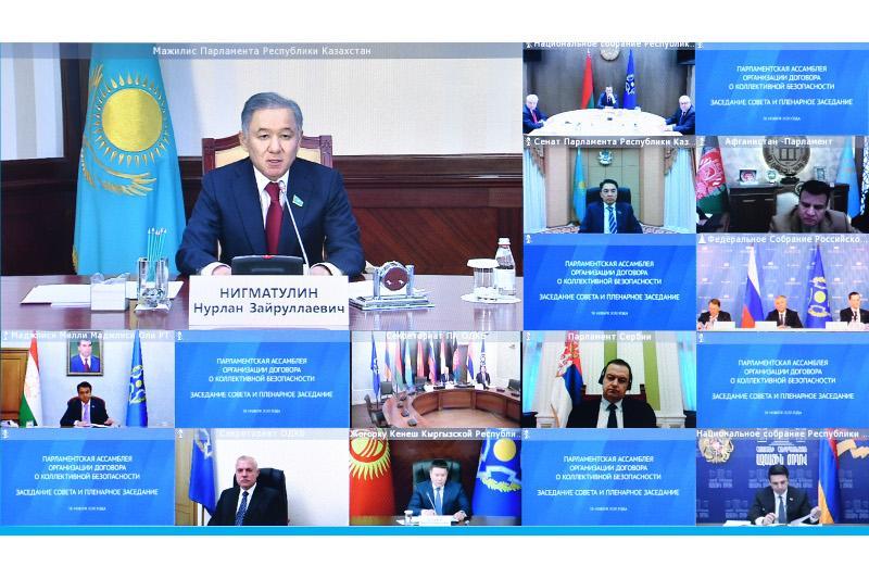 Нурлан Нигматулин принял участие в заседании Парламентской Ассамблеи ОДКБ
