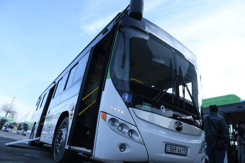 Новые автобусы будут курсировать по улицам Шымкента с 1 декабря