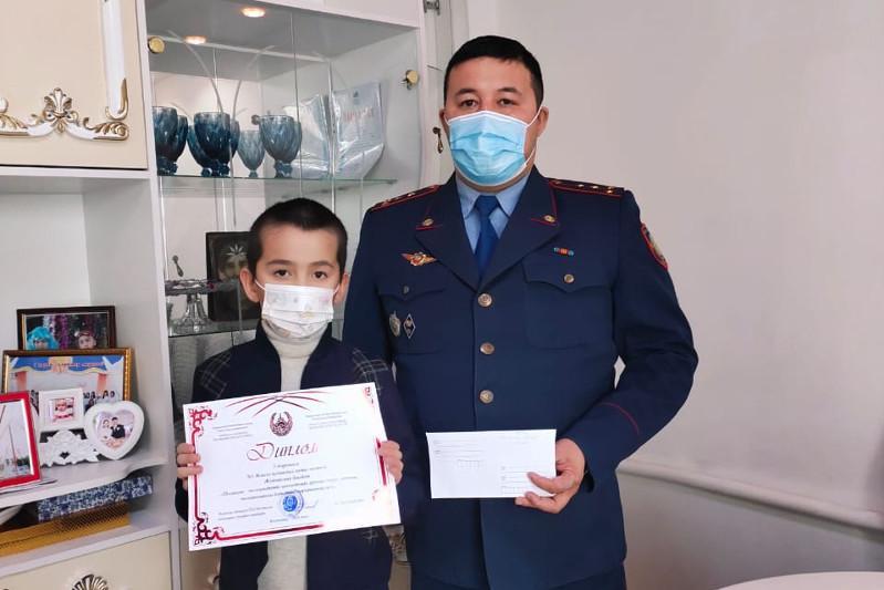 Ақмолалық оқушылар полиция қызметі туралы ғылыми жобаларын таныстырды