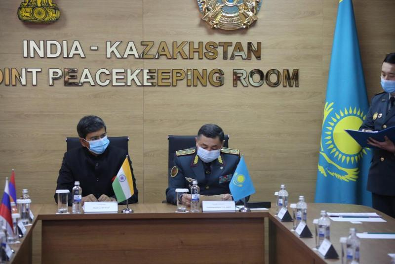 Kazakhstan-India Peacekeeper Training Class unveiled in Almaty