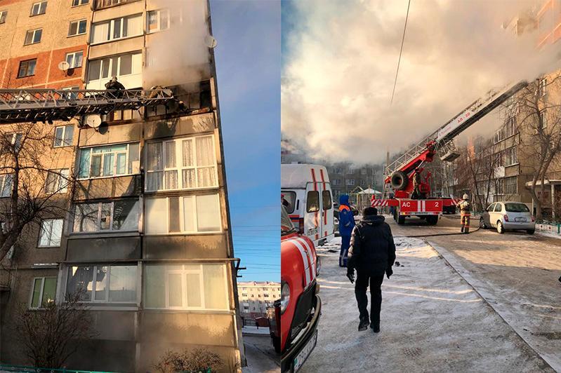 В собственной квартире из-за пожара погибла 80-летняя женщина в СКО