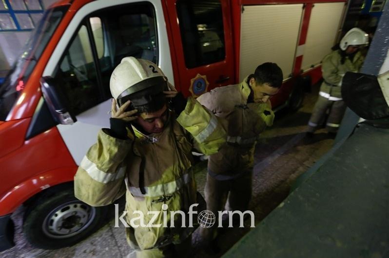 Алматы облысында өрт шыққан үйден бір отбасы мүшелері құтқарылды