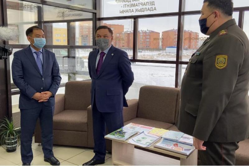 Фронт-офис департамента по чрезвычайным ситуациям открыли в Акмолинской области