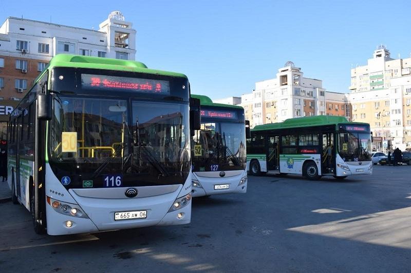 Атырауда метанмен жүретін автобустар жолға шықты