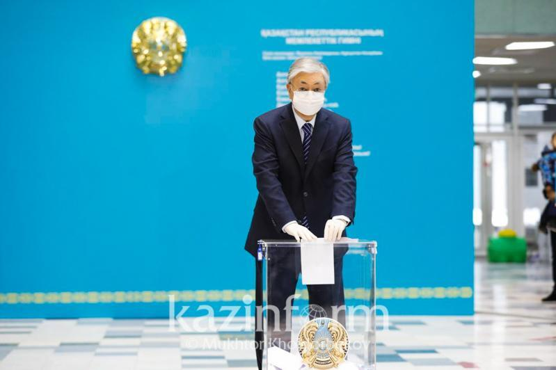 ҚР Президенти сайловда овоз берди