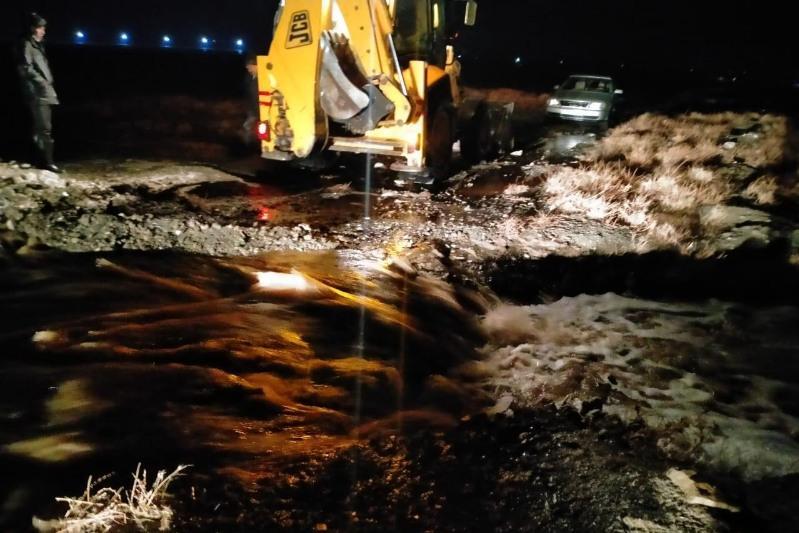 Подтопление населенных пунктов  предотвратили в Таласском районе Жамбылской области