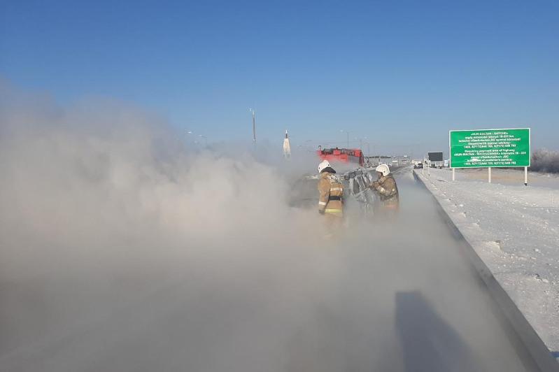 О правилах безопасности при отогреве автомобилей рассказали столичные спасатели