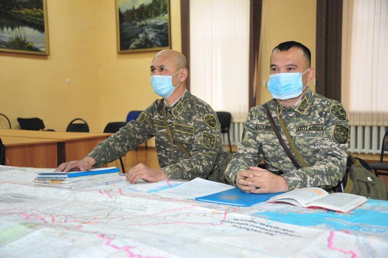Совместная штабная тренировка войск прошла в Семее