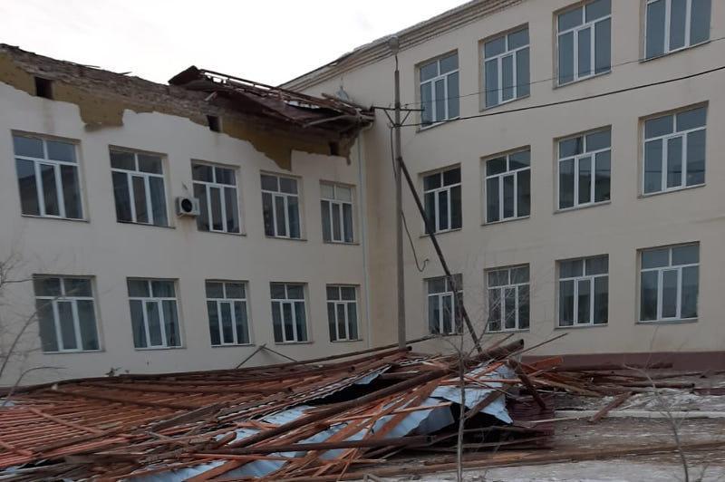 Скорость ветра в Атырауской областипревысила 50 км в час