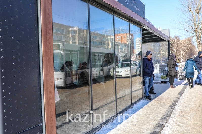 Около 30 теплых остановок откроют в Нур-Султане этой зимой