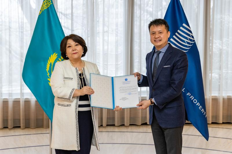 Kazakhstan deposits instrument of ratification of Protocol on Industrial Designs Protection with WIPO Director General