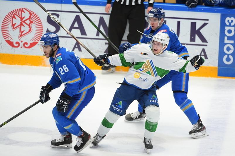 ХК «Барыс» потерпел поражение от «Салавата Юлаева» в чемпионате КХЛ