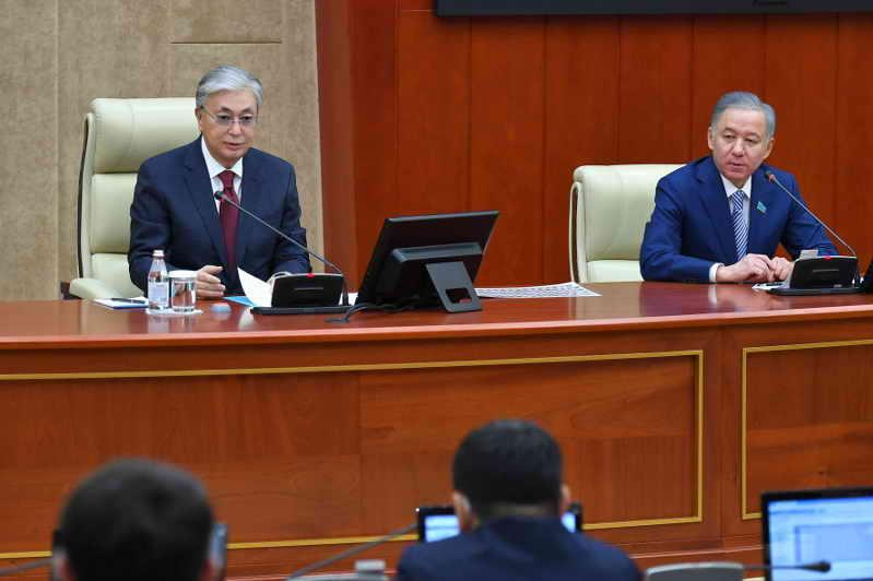 President Tokayev takes part in Majilis' plenary session