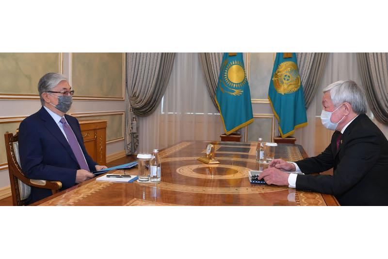 Президент Жамбыл облысының әкімін қабылдады